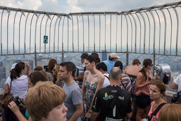 Empire State Building. Tourists on the 86th floor #1