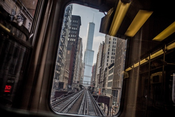 Trump Tower, seen from the El
