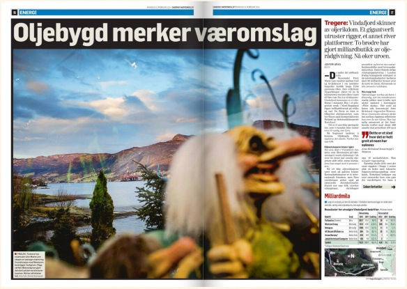 The story as it appeared in the Norwegian Business Daily (Dagens Næringsliv)