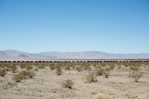 Desert #3. Freight train